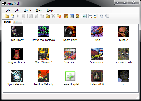 Ampshell A Net Front End For Dosbox